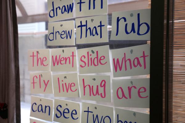 子供に単語を教えるための自作カード
