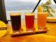 これは至福!宮島ブルワリーで宮島ビール3種を飲み比べ。眺めは厳島神社の大鳥居