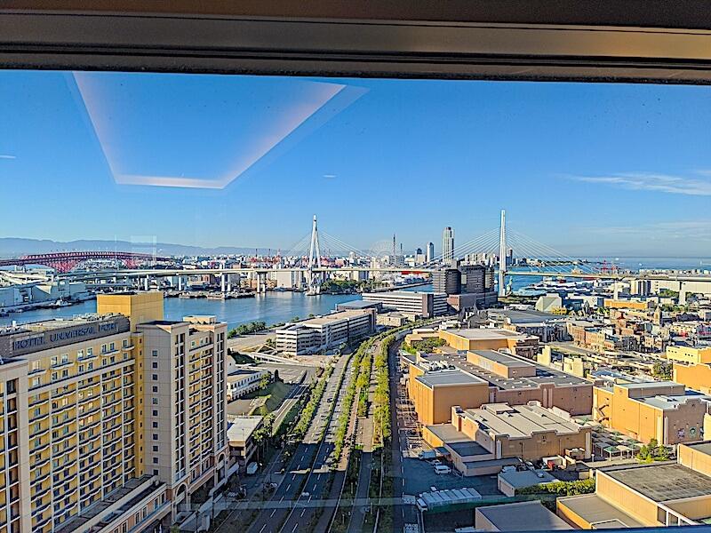 ホテル京阪ユニバーサルタワーからの眺め